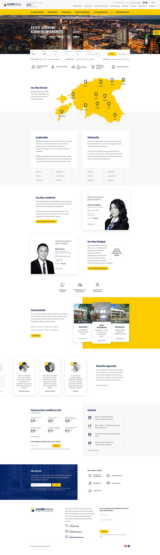 Uus Maa kinnisvarabüroo UI design