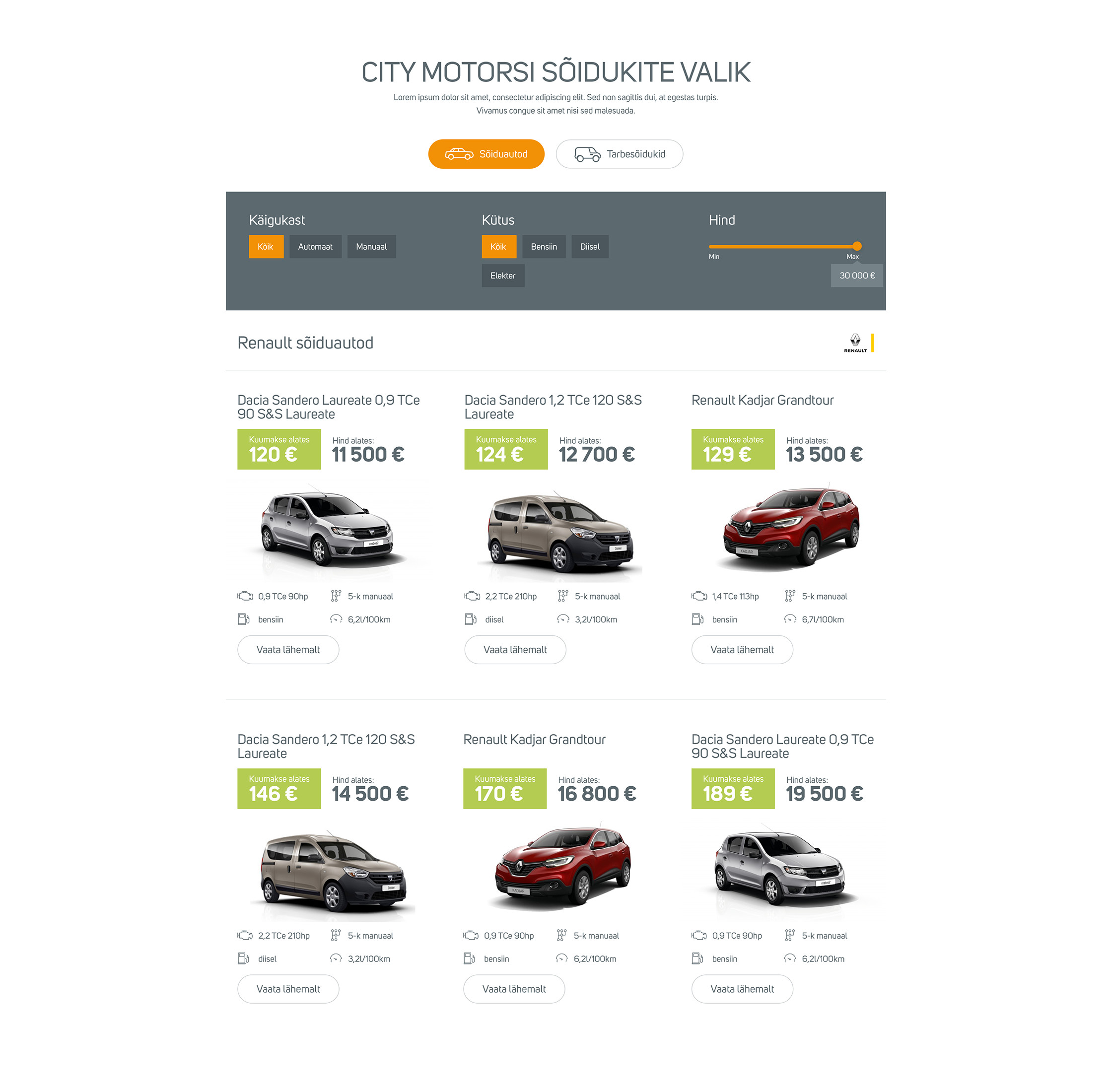 City Motors UI/UX design