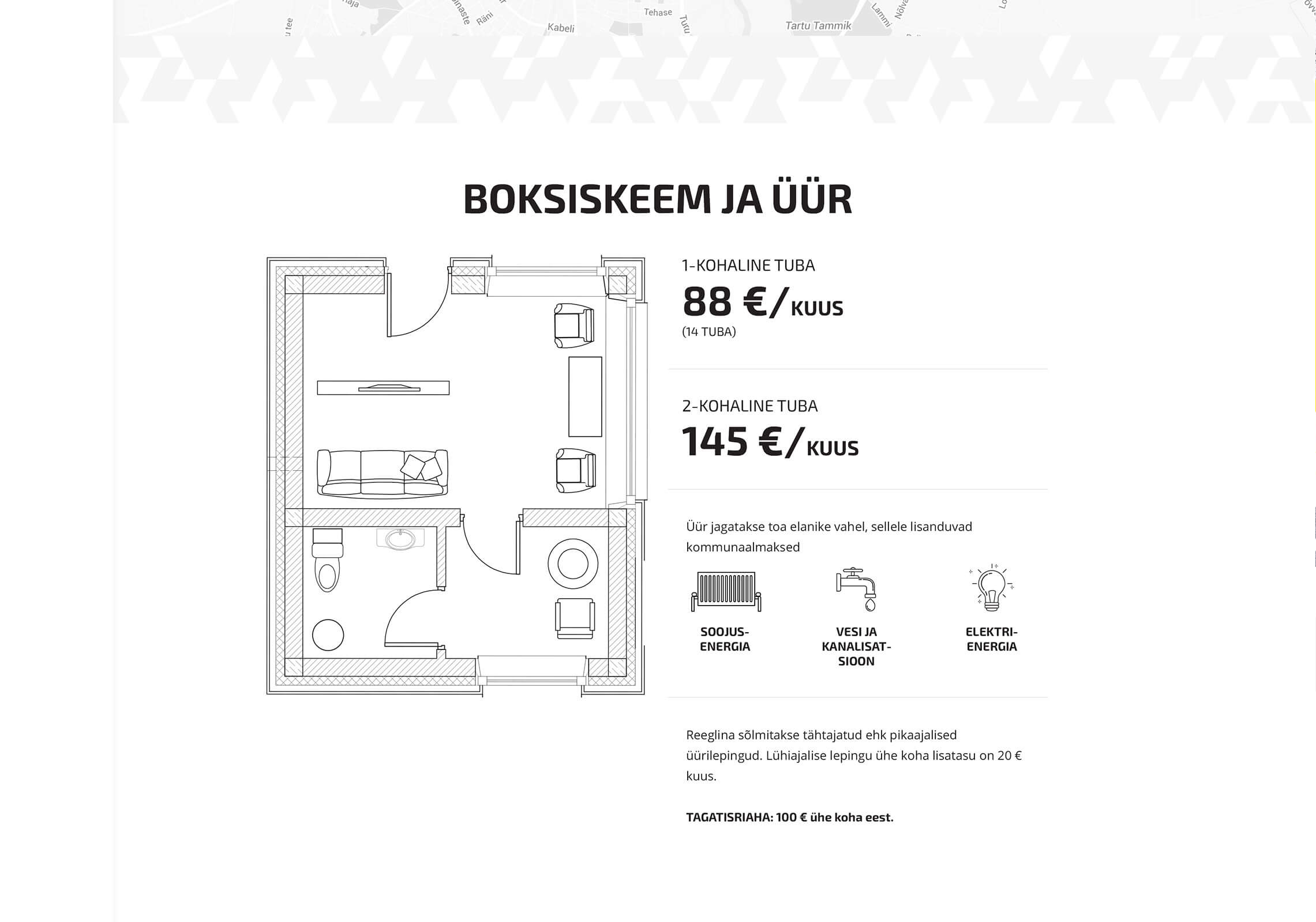 University campus Tartu desktop UI blueprint